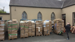 The truck carrying over ten tonnes of equipment left Ennistymon today