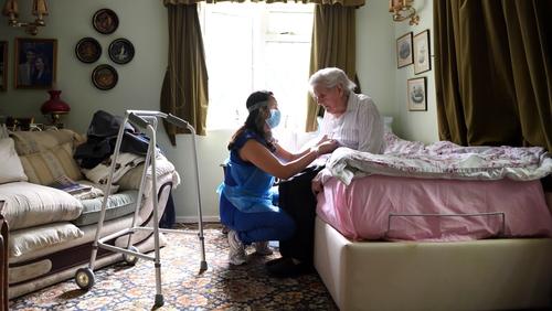 Health minister Matt Hancock has denied the UK has prioritised hospitals over the elderly