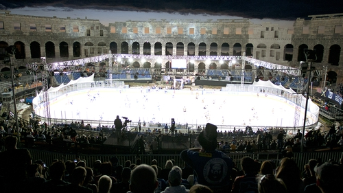 Ice hockey has been staged at the stunning venue in Croatia