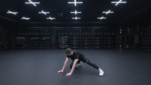 Half kneeling groin stretch