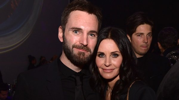 Courtney Cox pictured with Snow Patrol's Johnny McDaid
