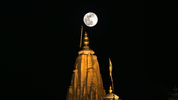 The supermoon seen in Jaipur Rajasthan India
