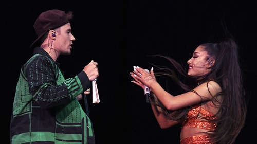 Justin Bieber and Ariana Grande duet at Coachella last year