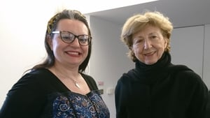 Poet Angie Strachan and Poetry Programme host Olivia O'Leary