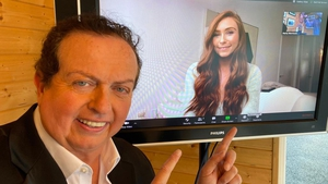 Marty Morrissey chats to Erika Fox from his shed