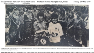 The Dundalk and Manchester Corinthian Nomads teams that met at Prestatyn in 1970