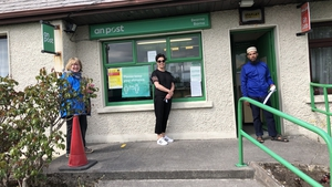 The queue for Barna Post Office in Co Galway