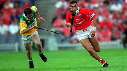 Seán Óg Ó hAilpín (R) in action for Cork