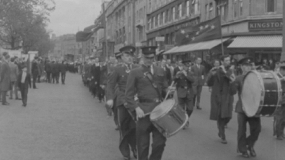 James Connolly commemorative parade, O'Connell Street Dublin (1965)