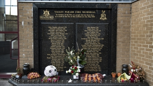Fifty-six supporters died after a blaze engulfed a wooden stand at Valley Parade