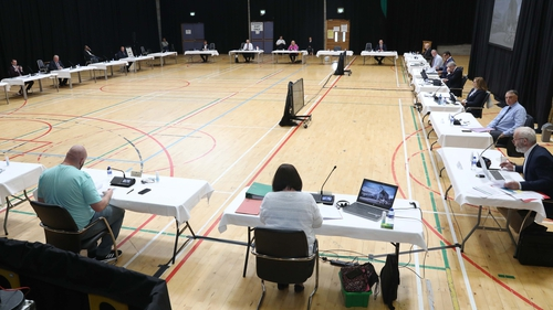 This morning's meeting of Sligo County Council was held in the Knocknarea Arena at IT Sligo