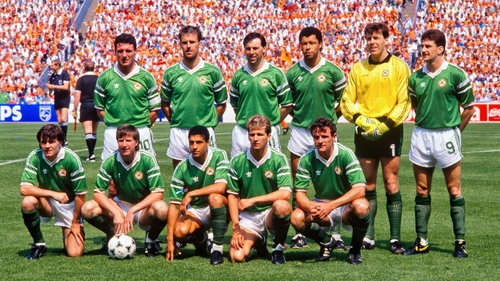 The Republic of Ireland team at Euro 88