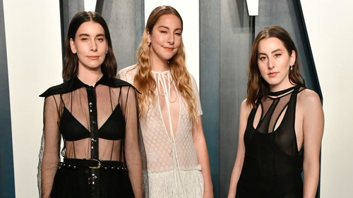 Haim are one of the acts whose new release has been rescheduled because of the coronavirus outbreak. Photo: Frazer Harrison/Getty Images