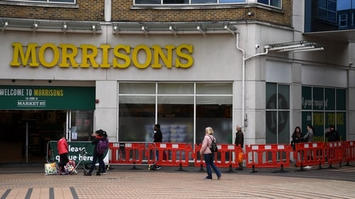 Morrisons said its sales rose 5.1% in the 14 weeks to May 10 due to consumers stocking-up in late March
