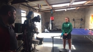 Gráinne Walsh in her makeshift gym in Tullamore