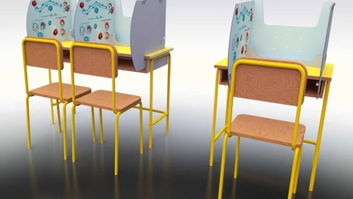 Smurfit Kappa's 'SafeShield' desk protector is a simple, lightweight product which protects the area around each child