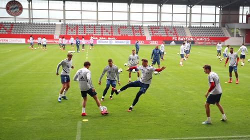 Bayern Munich players training this week