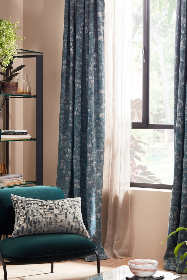 John Lewis ready-made curtains and voile, from a selection (John Lewis/PA)