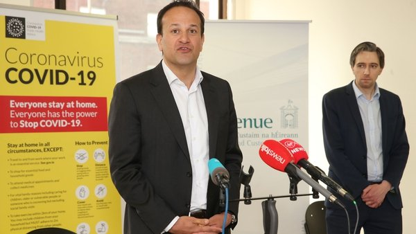 Taoiseach Leo Varadkar and Minister for Health Simon Harris at contact tracing centre today pic: Rollingnews.ie