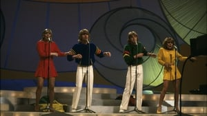 Bucks Fizz, perform their winning song, 'Making Your Mind Up' at Eurovision Song Contest, 1981
