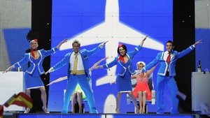 Scooch from the United Kingdom sing 'Flying The Flag (For You)' during the final of the Eurovision Song Contest 2007