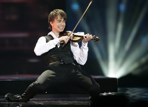 Alexander Rybak, representing Norway, performs during the Eurovision Song Contest 2009