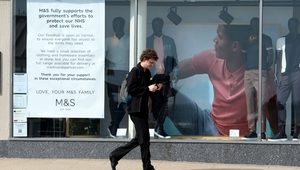M&S said it made a pre-tax profit before one-off items of £403m in its financial year to March 28, down from £512m the previous year