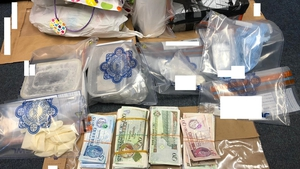 The cocaine and cash was seized on Castle Road in Dundalk