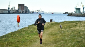 Stephen Scullion on a training run in Belfast during the Covid-19 pandemic