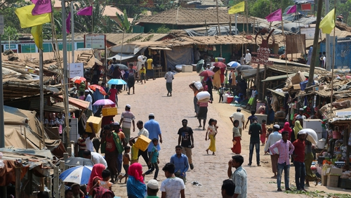 Kutupalong refugee camp in Bangladesh where two cases were detected