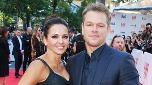 Matt Damon and his wife Luciana Barrosa