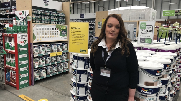 Woodies manager Winnie Coffey says customer numbers to be capped at 20 in store at any one time