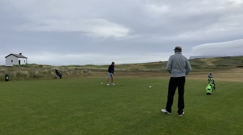 The early tee times in Sligo enjoyed clam conditions