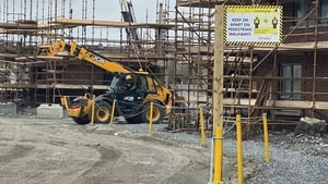 Some workers return to Glenveagh's site at Barnhall Meadows in Leixlip today