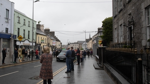 The people of Tullamore pay their respects to the late Paddy Fenning.  Picture credit: Paddy Fenning Walk for IMNDA and Offaly Homeless'