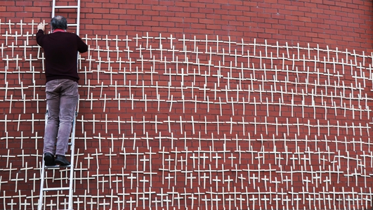 The Wall of Crosses: Grief made visual