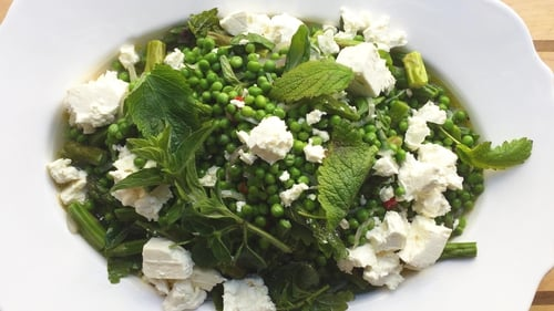Paul Flynn's Spring salad with feta cheese and mint.