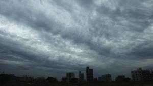 Rain clouds loom over a Kolkata as Cyclone Amphane barrels towards India's eastern coast
