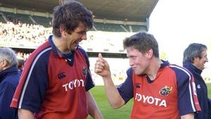 Long-term Munster team-mates Donncha O'Callaghan and Ronan O'Gara