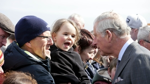 Prince Charles greeting locals on a visit to Sligo in 2015