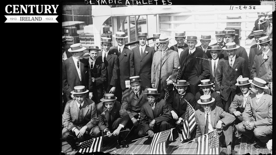 Century Ireland 179 American athletes aboard the 'Finland', a Red Star Line company vessel, on their way to the 1912 Summer Olympic Games in Stockholm Photo: Library of Congress