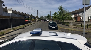 The scene at Cromcastle has been sealed off by gardaí