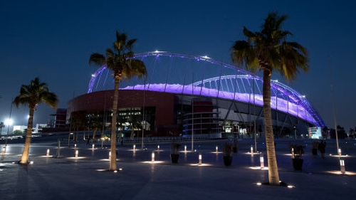 The World Cup final venue in Doha