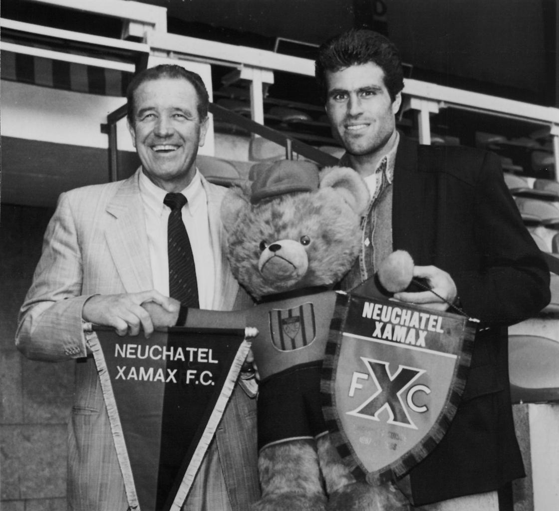 Image - Gilbert Facchinetti (l) and Andy Egli in 1990