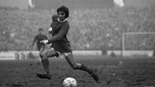 George Best in action for Manchester United against Chelsea in 1969