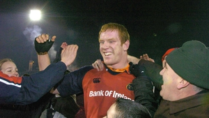 Paul O'Connell is mobbed on a day to remember at Thomond Park