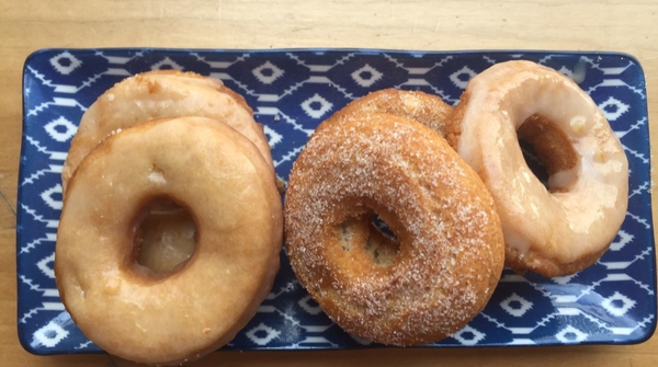 Delicious doughnuts make for the perfect weekend snack.