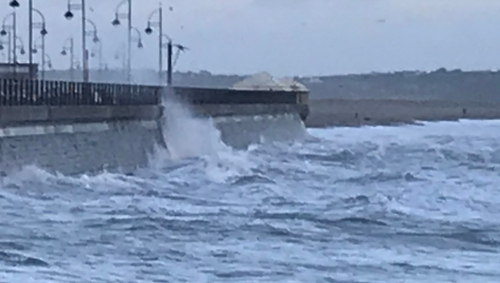 High winds in Tramore Co Waterford during Storm Lorenzo last year