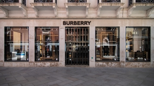 Burberry today reported total retail revenue of £257m in its first fiscal quarter - a drop of 48%