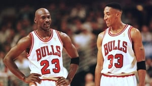 Michael Jordan (L) and Scottie Pippen pictured in 1997